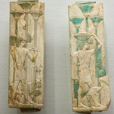 Panneaux d'un cercueil - Egypte, Basse Epoque, 26e dynastie (?), Ivoire - Musée Calouste Gulbenkian - Lisbonne