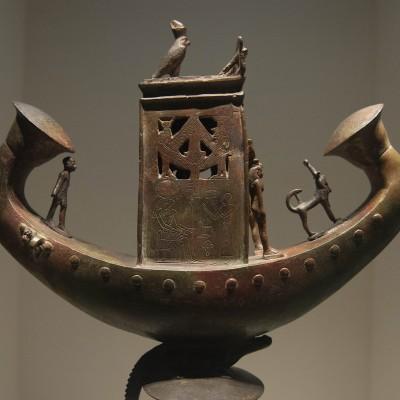 Barque solaire de Djednor - Égype  Basse Époque, XXVIe-XXXe dynastie (v. 380-343 av. J.-C.) Bronze - Musée Calouste Gulbenkian - Lisbonne