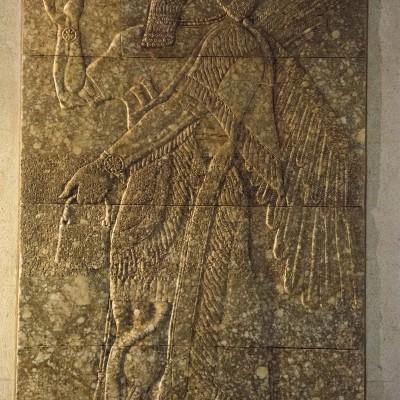 Bas-relief Assyrien Irak, Nimrud (ancienne Kalhu) 884-859 av. J.-C.) AlbâtreMusée Calouste Gulbenkian - Lisbonne
