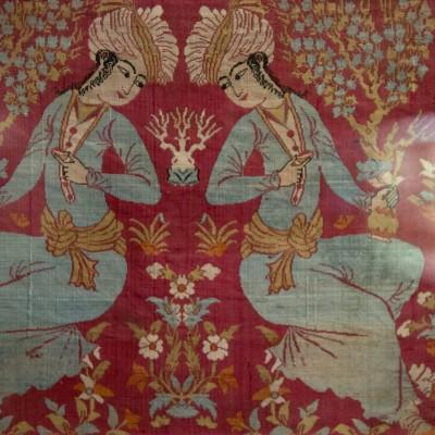 Fragment de soie - Perse, Kâchân vers 1600, période Safavide Soie. Musée Calouste Gulbenkian - Lisbonne