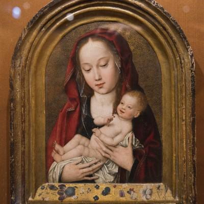 La vierge et l'enfant -artiste inconnu - Flandre (1485-90)  - Musée Calouste Gulbenkian - Lisbonne