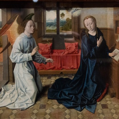 L'annonciation - Circle of Bouts, Dierick (1410-1475) - Musée Calouste Gulbenkian - Lisbonne
