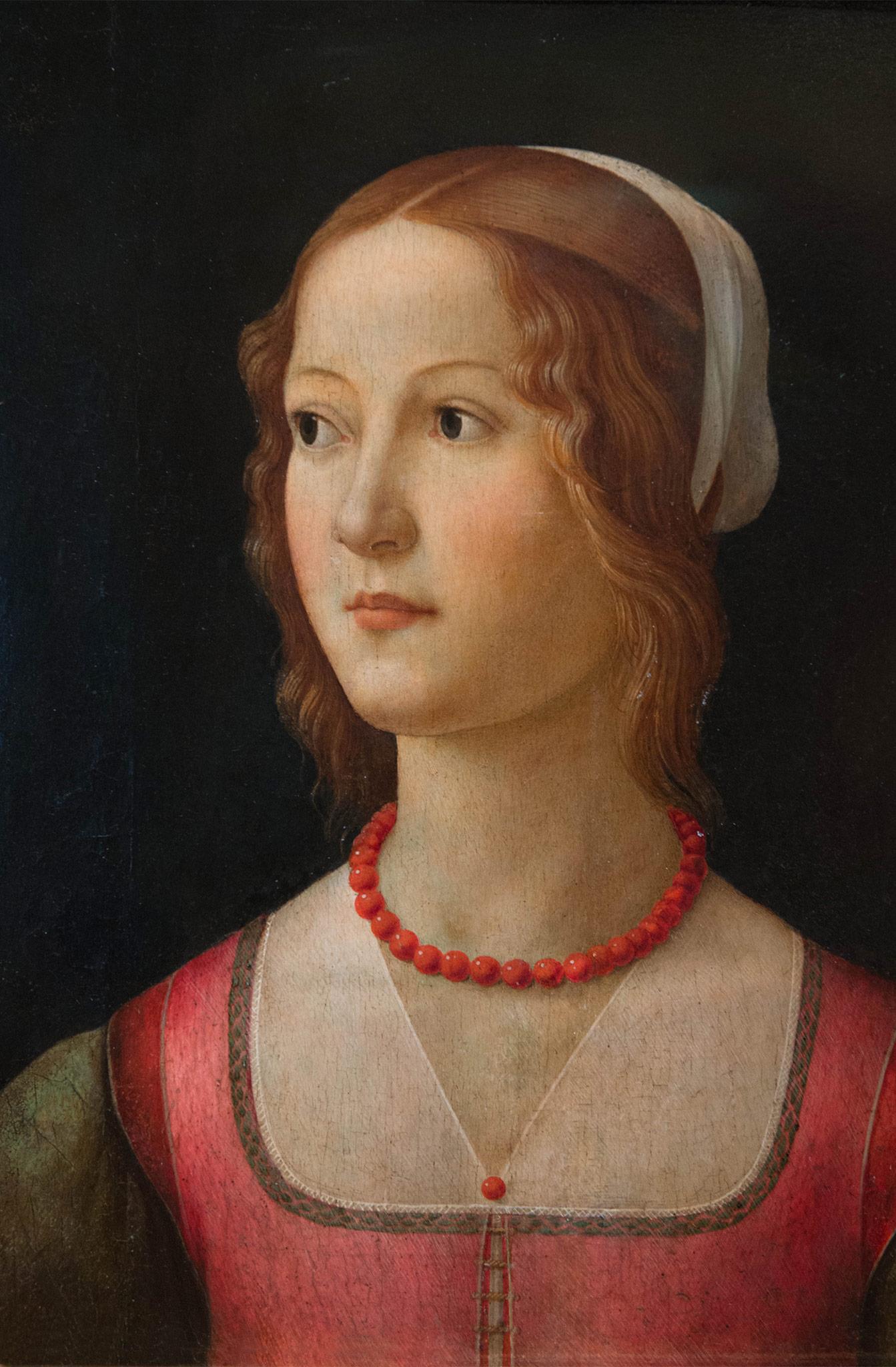 Portrait d'une jeune femme -Domenico Ghirlandaio (1449-1494) - Florence 1490 - Musée Calouste Gulbenkian - Lisbonne