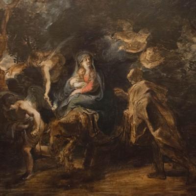 Fuite en Egypte - Peter Paul Rubens (1577-1640) Flandre 1630-1632 - huile sur bois - Musée Calouste Gulbenkian - Lisbonne