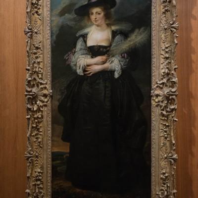 Portrait d'Hélène Fourment - Peter Paul Rubens (1577-1640) - Flandres V; 1630-1632 Huile sur bois. Musée Calouste Gulbenkian - Lisbonne