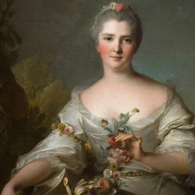 Portrait de Madame de La Porte - Jean-Marc Nattier (1685-1766) France- 1752 - Musée Calouste Gulbenkian - Lisbonne