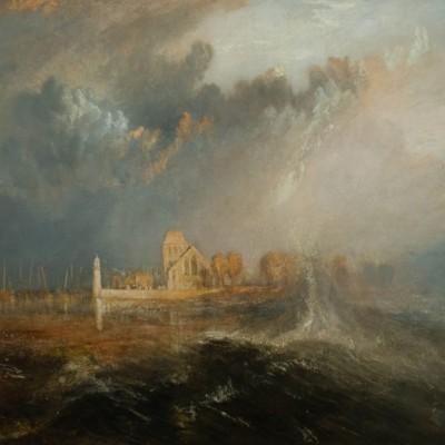Quillebeuf, Embouchure de la Seine, Joseph Mallord William (1775-1851) Angleterre 1833 - Huile sur toile