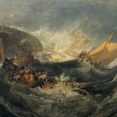 Naufrage d'un cargo - Joseph Mallord William Turner (1775-1851) Angleterre v. 1810 Huile sur toile - Musée Calouste Gulbenkian - Lisbonne