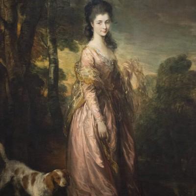 Portrait de Mrs. Lowndes-Stone - Thomas Gainsborough (1727-1788) Angleterre v. 1775 Huile sur toileMusée Calouste Gulbenkian - Lisbonne