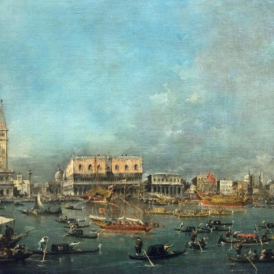 Francesco Guardi (1712-1793) - Le départ du Bucintoro - Venise 1765-80 - huile sur toile - Musée Calouste Gulbenkian - Lisbonne