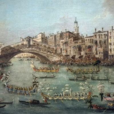 Régatte sur le grand Canal près du pont Rialto - Giacomo Guardi (1764-1835) - Venise - Musée Calouste Gulbenkian - Lisbonne