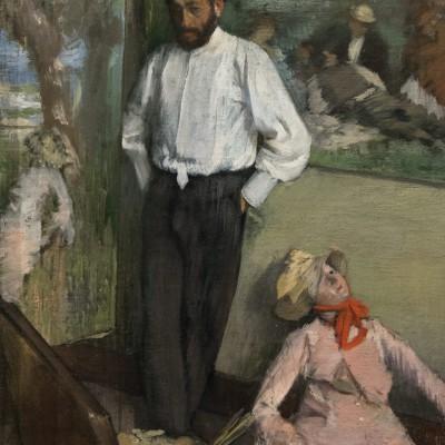 Portrait d'Henri-Michel Levy - Edgar Degas - (1834-1917) France - huie sur toile - Musée Calouste Gulbenkian - Lisbonne