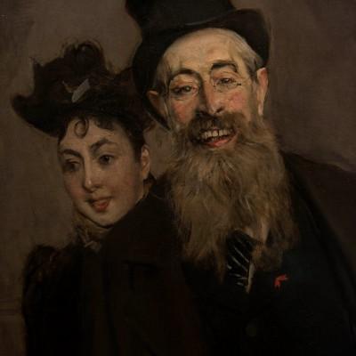 John Lewis Brown sa femme et sa fille - Giovanni Boldoni (1842-1931) France 1890 Huile sur toile. Musée Calouste Gulbenkian - Lisbonne