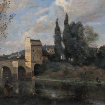 Le pont de Mantes  - Jean Baptiste Camille Corot (1796-1875) France 1868-1870 France. Huile sur toile. Musée Calouste Gulbenkian - Lisbonne