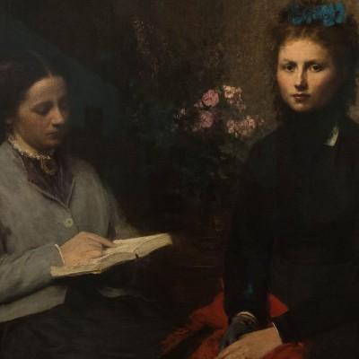 La lecture - Fantin-Latour Henri (1836-1904) - France 1870 - huile sur toile - Musée Calouste Gulbenkian - Lisbonne