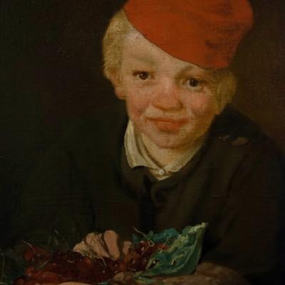 L'Enfant aux Cerises  Édouard Manet (1832-1883) France, 1858 Huile sur toile. Musée Calouste Gulbenkian - Lisbonne