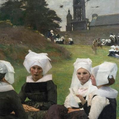 Les Bretonnes au Pardon - Dagnan-Bouveret, Pascal-Adolphe-Jean (1852-1929) France, 1887 Huile sur toile. Musée Calouste Gulbenkian - Lisbonne