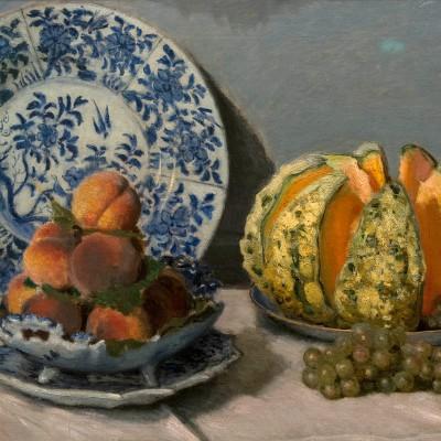 Nature morte au melon, Claude Monet. (1840-1926) France 1872 Huile sur toile - Musée Calouste Gulbenkian - Lisbonne