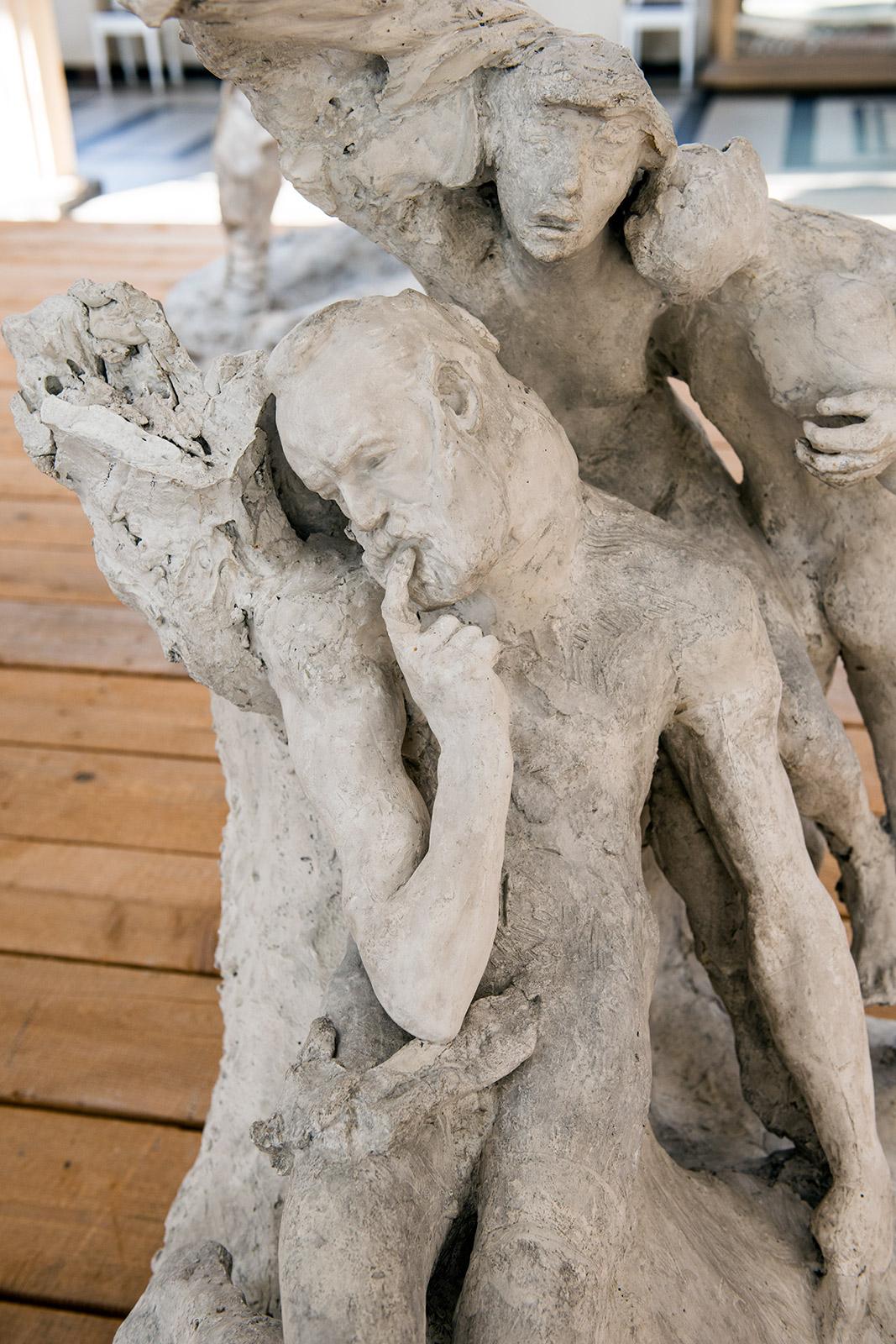 Monument à Victor Hugo (1er étude) vers 1887-1888 – Plâtre