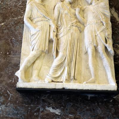 Relief : Hermés, OrphŽée et Eurydice - Marbre du mont PentŽlique (Athénes)