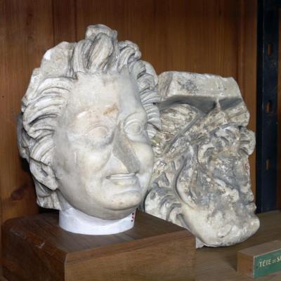 Tête de satyre -Église Saint-Pierre - Musée archéologique - Vienne