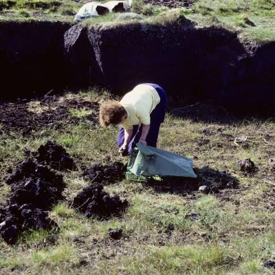 Ramassage de la tourbe - Lande d'Erris - Comté de Mayo - Irlande 1984