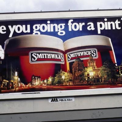 Une publicité à Dublin - Irlande 1984