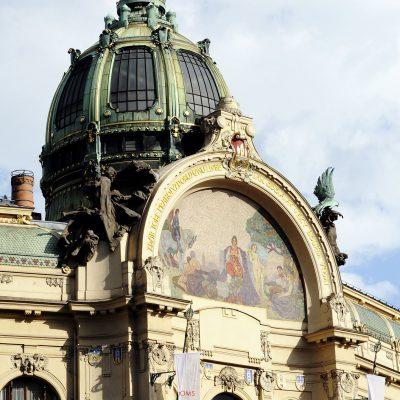 La Maison Municipale - Mosaïque - allégorique figurant «l'Apothéose de Prague».