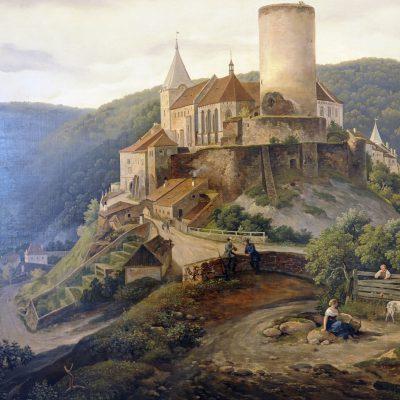 Antonín Mánes 1784/1843 château royal de Křivoklát 1842