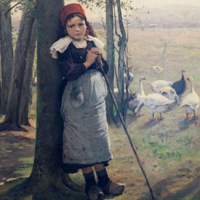 Václav Brožìk (1851-1901) - Goose girl.