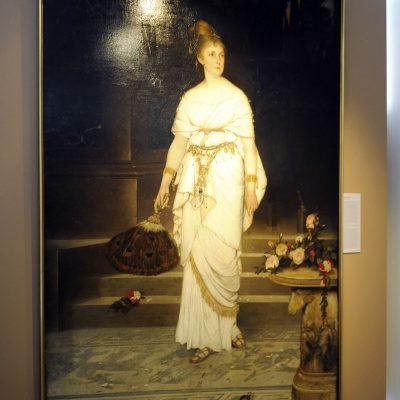 Václav Brožìk 1851-1901 Julie Šamberková dans le rôle de Messaline - 1876 - Huile sur toile, 244 x 164cm Couvent Saint Georges, Galerie Nationale.