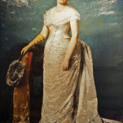 Václav Sochor (1855-1935) portrait d'une dame vêtue élégamment - Musée du couvent Saint-Georges Prague 2011