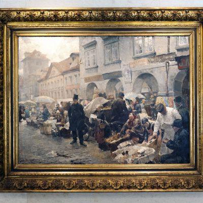 Luděk Marold (1865-1898) Prague le marché aux œufs - 1888 - Musée du couvent Saint-Georges Prague 2011