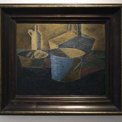 Bohumil Kubišta - Still life with a basket - Musée du Cubisme tchèque - Peintre et graveur tchèque (Vlškovice, près de Hradec Králové, 1884 – Prague 1918).  - Musée du Cubisme tchèque