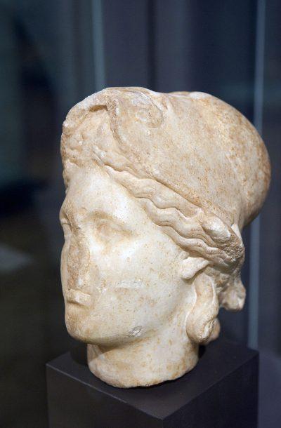 Palais Kinsky, Galerie Nationale - Marbre - Statue d'Athéna - Minerve - Fragment d'une statue de la déesse  avec un casque
