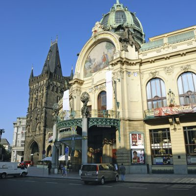 La maison municipale mosaïque - allégorique figurant « l'Apothéose de Prague »
