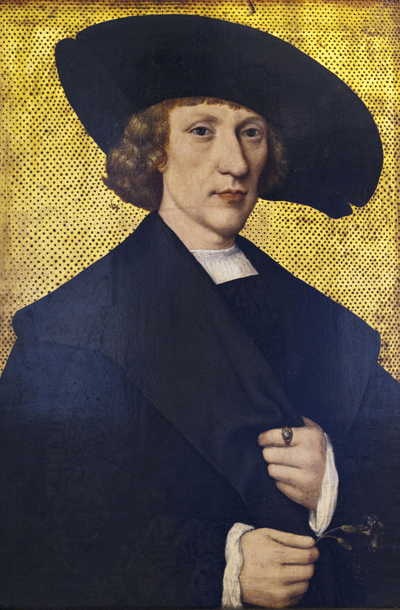 Šternberg Palace, Prague. Portrait of a Man with a Carnation - 1525