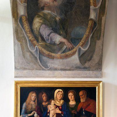 Pasqualino Di Niccolo 1496-1504 La Vierge et l'Enfant, Marie Madeleine, Jean l'évangéliste, Joseph (?).