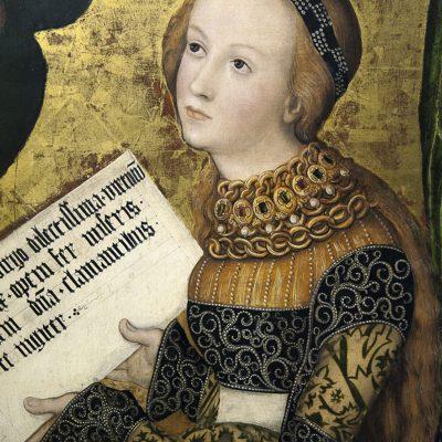 Sainte-Christine de Lucas Cranach l'Ancien, 1520-1522