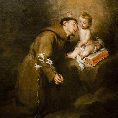 Saint-Antoine  evec l'enfant (1668/69) - Bartolomé Esteban Murillo (Séville 1617-1682) - Musée des Beaux Arts SÉVILLE 2011