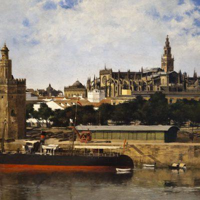 Vue de Séville - Nicolas Jimenez Alpériz (Séville 1965-1928) Musée des Beaux Arts SÉVILLE 2011