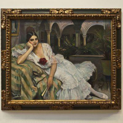 Sévillane dans son patio (1918) Diego Lopez (Séville 1876-1969) - Musée des Beaux Arts SÉVILLE 2011