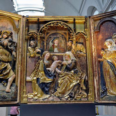 The Brixen Altarpiece about 1500-10 - Artistes : Potsch, Rupert, born 1475 - died 1530 (probably, maker)  Diemer, Philipp, born 1496 - died 1515 (probably , maker)