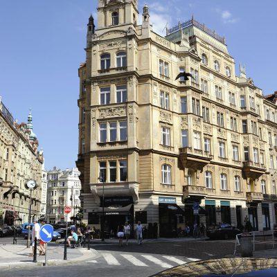 Quartier Josefov, on trouve de beaux immeubles de style Séscession, construits dans les années 1890.