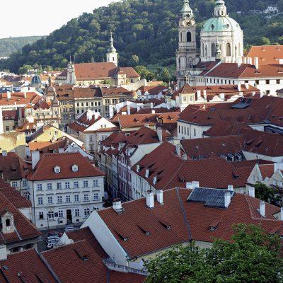 La ville de Prague vue du château