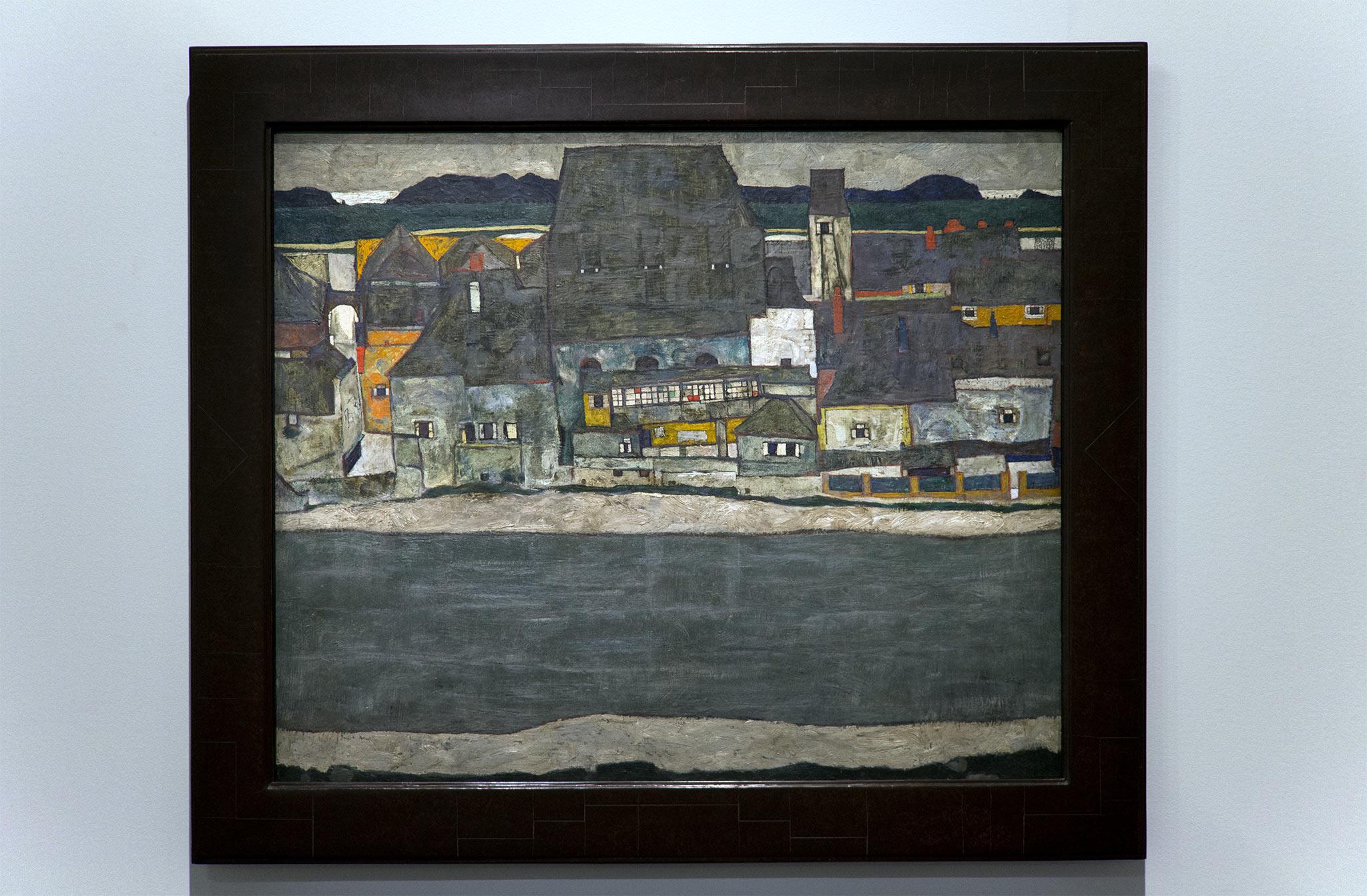 Maison au bord de la rivière, 1914 – Egon Schiele