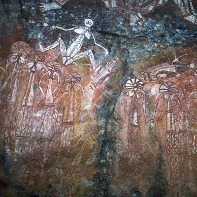 la femme de Namarrgon - Ubirr Rock est l'un des plus grandes sites sacrés aborigènes.