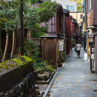 Quartier Kazuemachi au bord de la rivière Asanogawa- Kanazawa