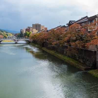 La rivière Asano, et le pont Asangawa-ohashi - Kanazawa