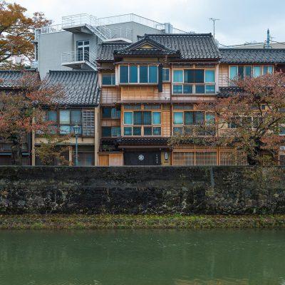 Quartier Kazuemachi au bord de la rivière Asano-gawa